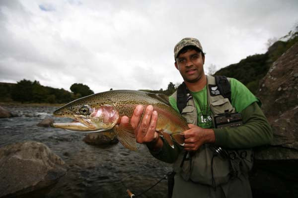 RoVaz, Czech nymphing, rainbow trout New Zealand North Island King Country