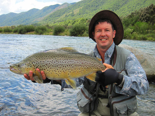 Zane Mirfin, Strike adventure, Nelosn fly fishing, trophy brown trout, fishing a mouse fly, mouse feeding trout, new zealand back country fishing south island NZ, guides, scott rods