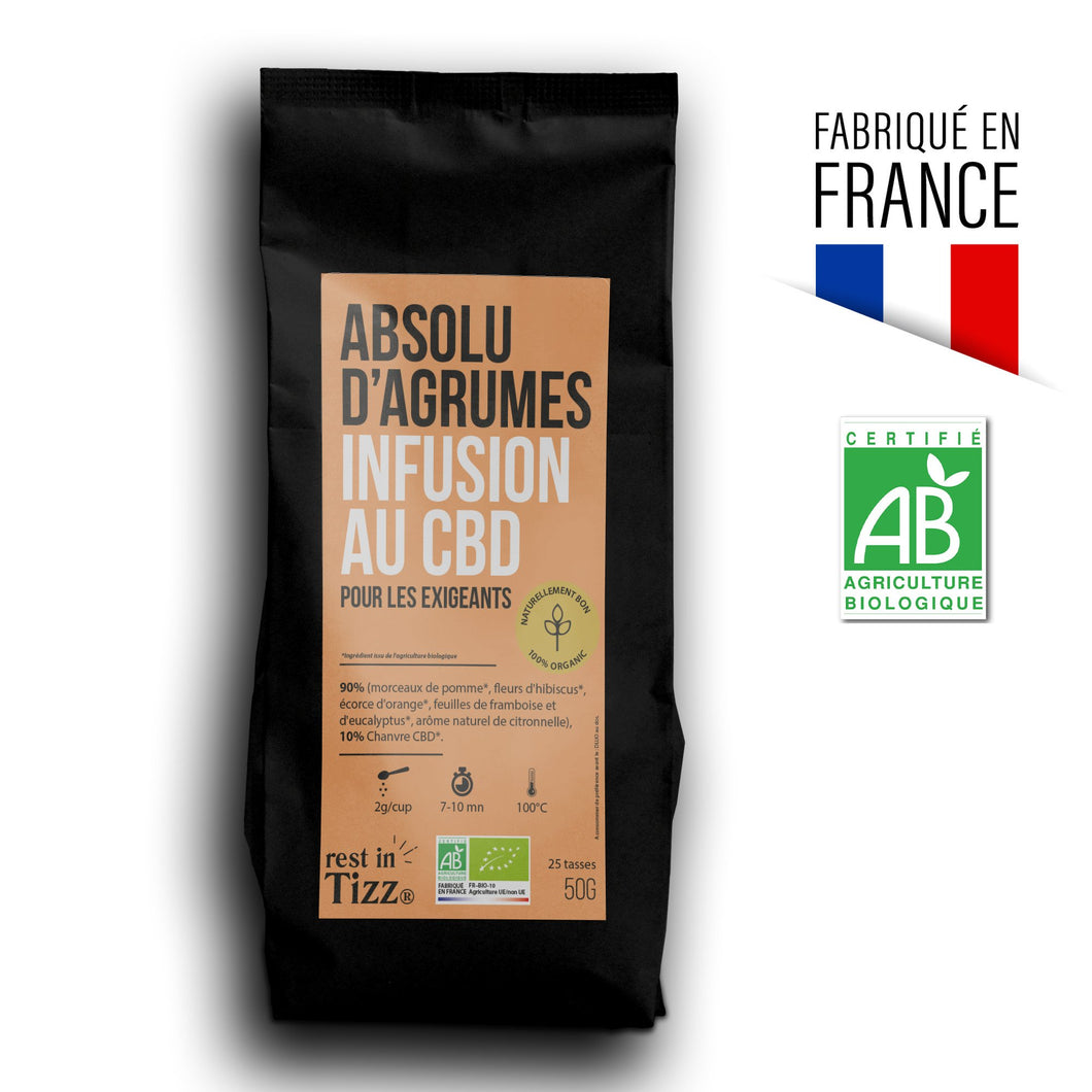 Infusion au CBD Absolu d'Agrumes by Tizz®
