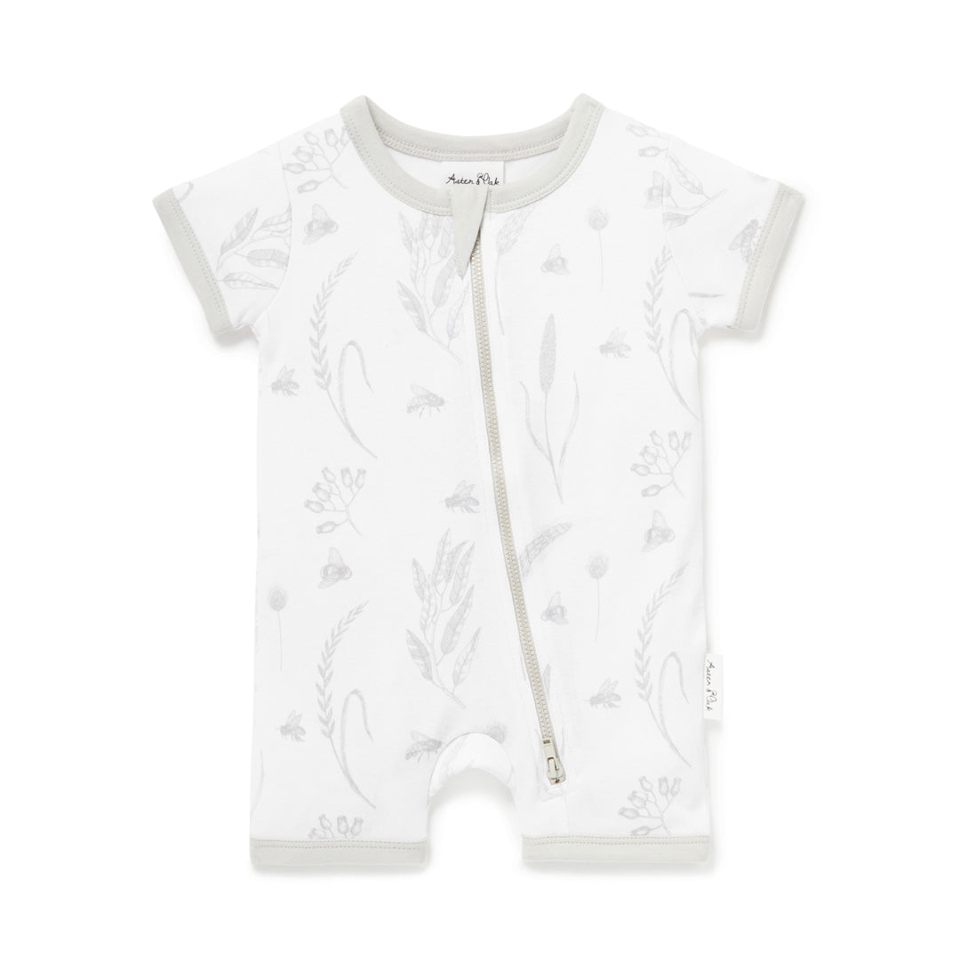 ASTER & OAK BEE SHORT ZIP ROMPER