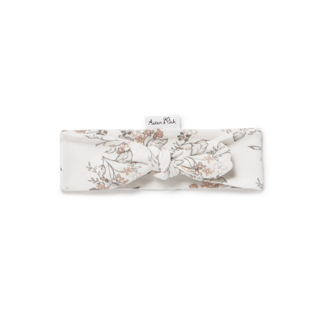 ASTER & OAK SUMMER FLORAL HEADBAND - WHITE ALLYSUM