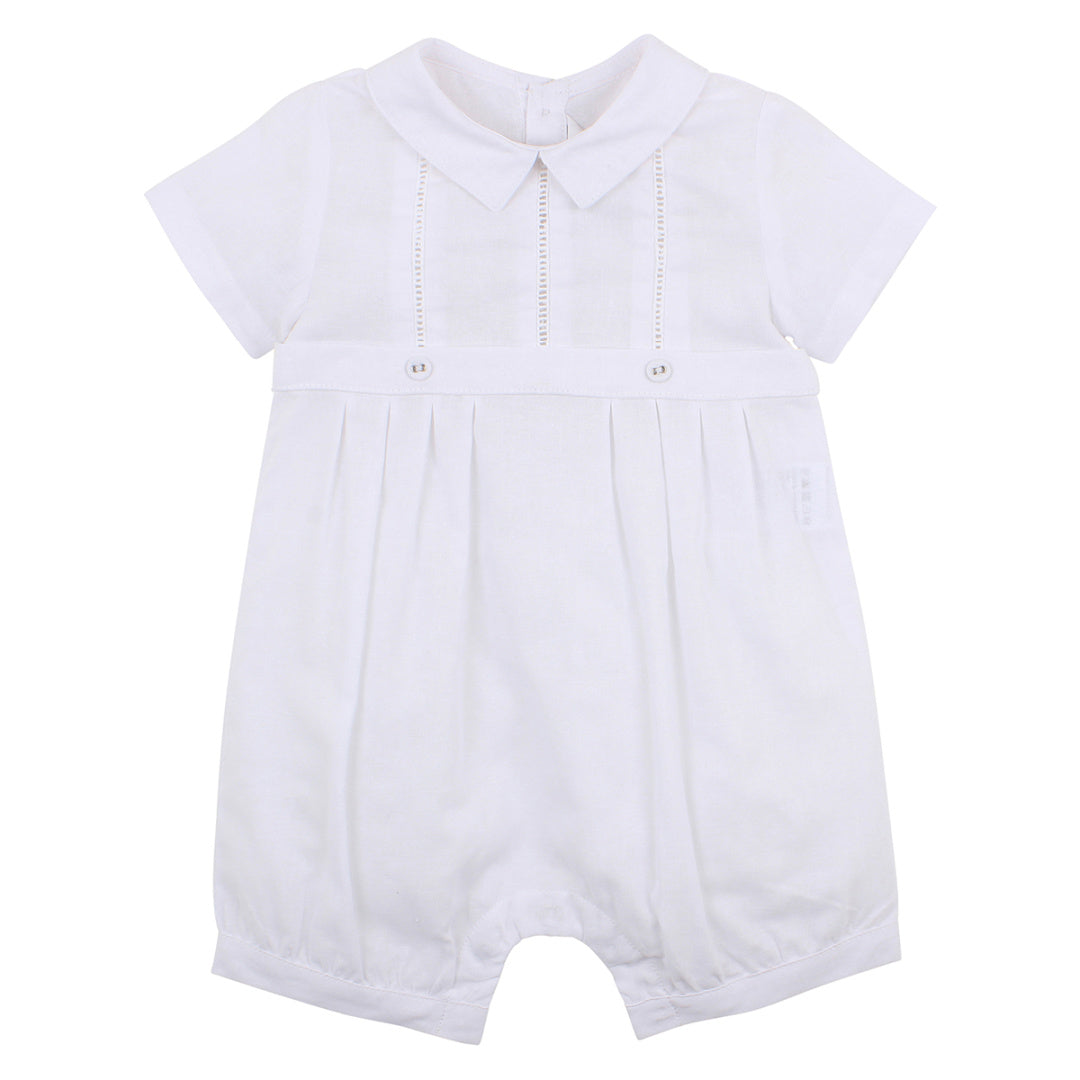 BEBE BOYS SMART ROMPER - WHITE