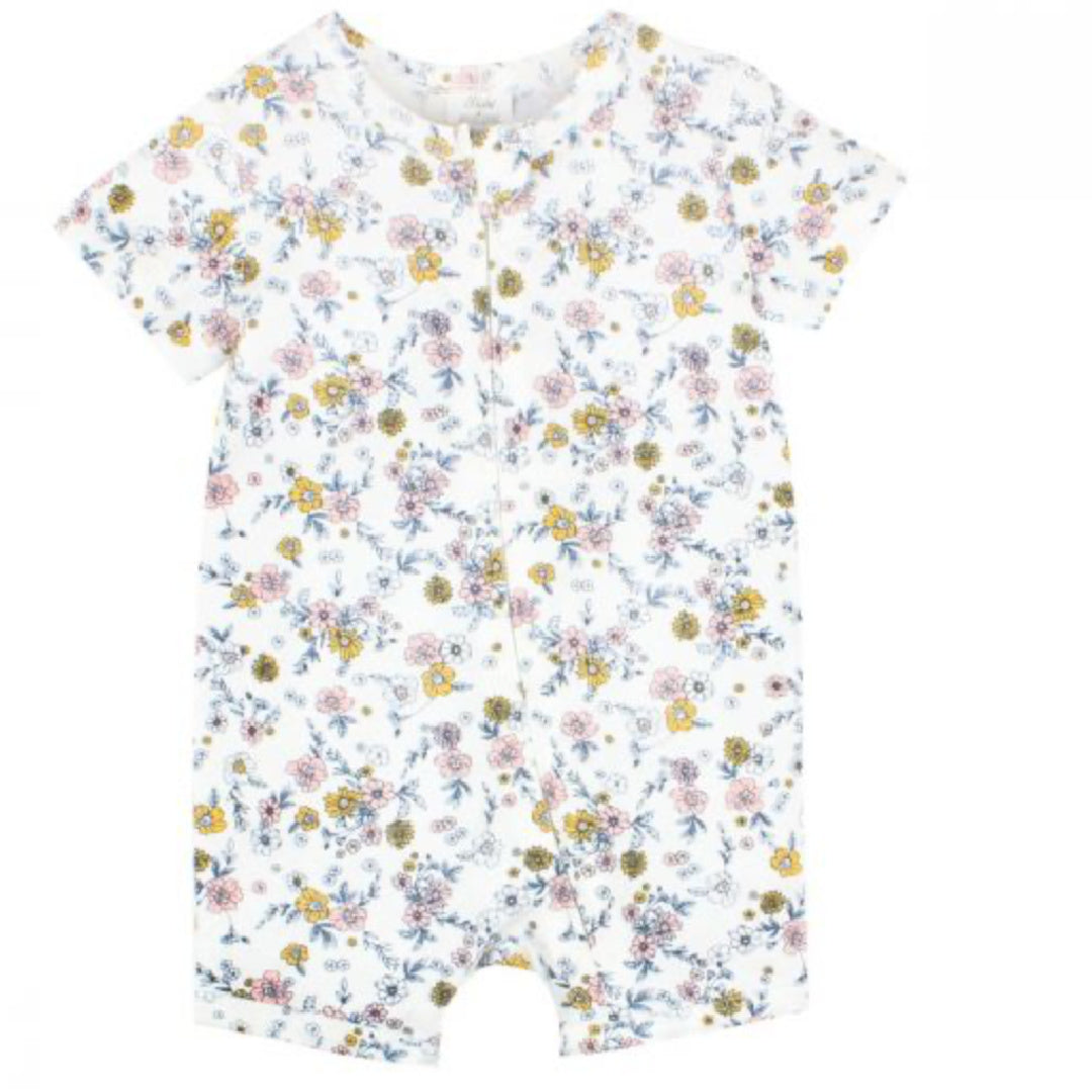 BEBE WHITE LABEL BABY GIRLS MAE FLORAL ROMPER