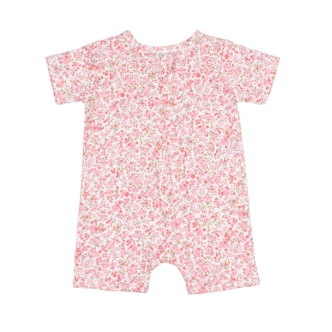 BEBE WHITE LABEL BABY GIRLS FLORAL ROMPER