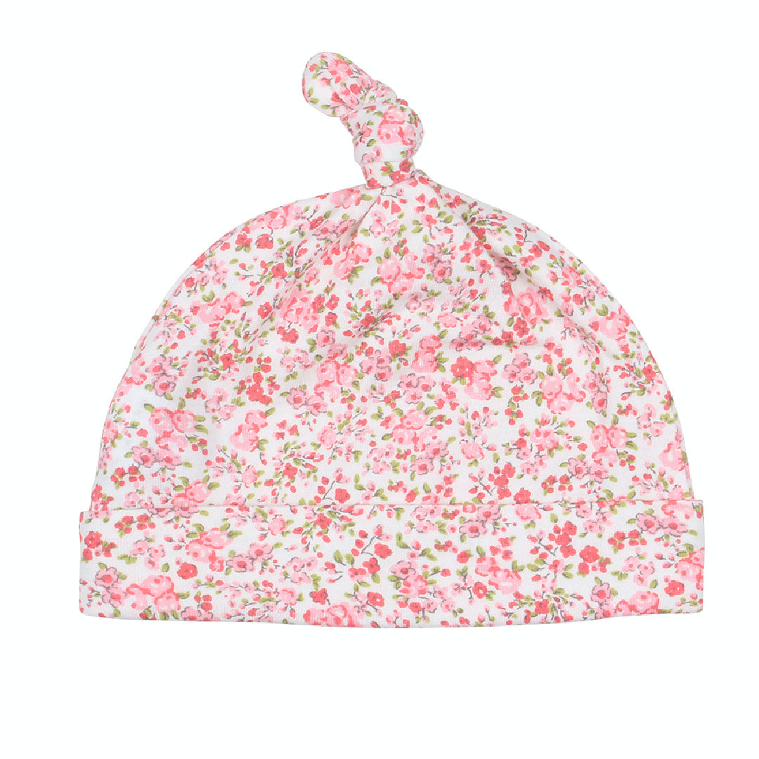 BEBE WHITE LABEL BABY GIRLS FLORAL BEANIE