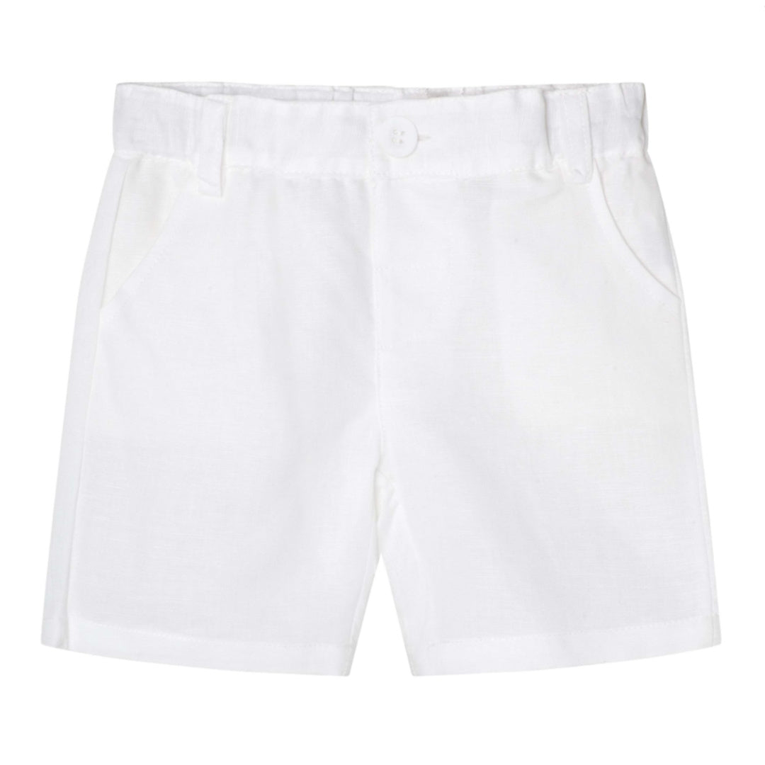 MAX & JACK LINEN DRESS SHORTS - WHITE