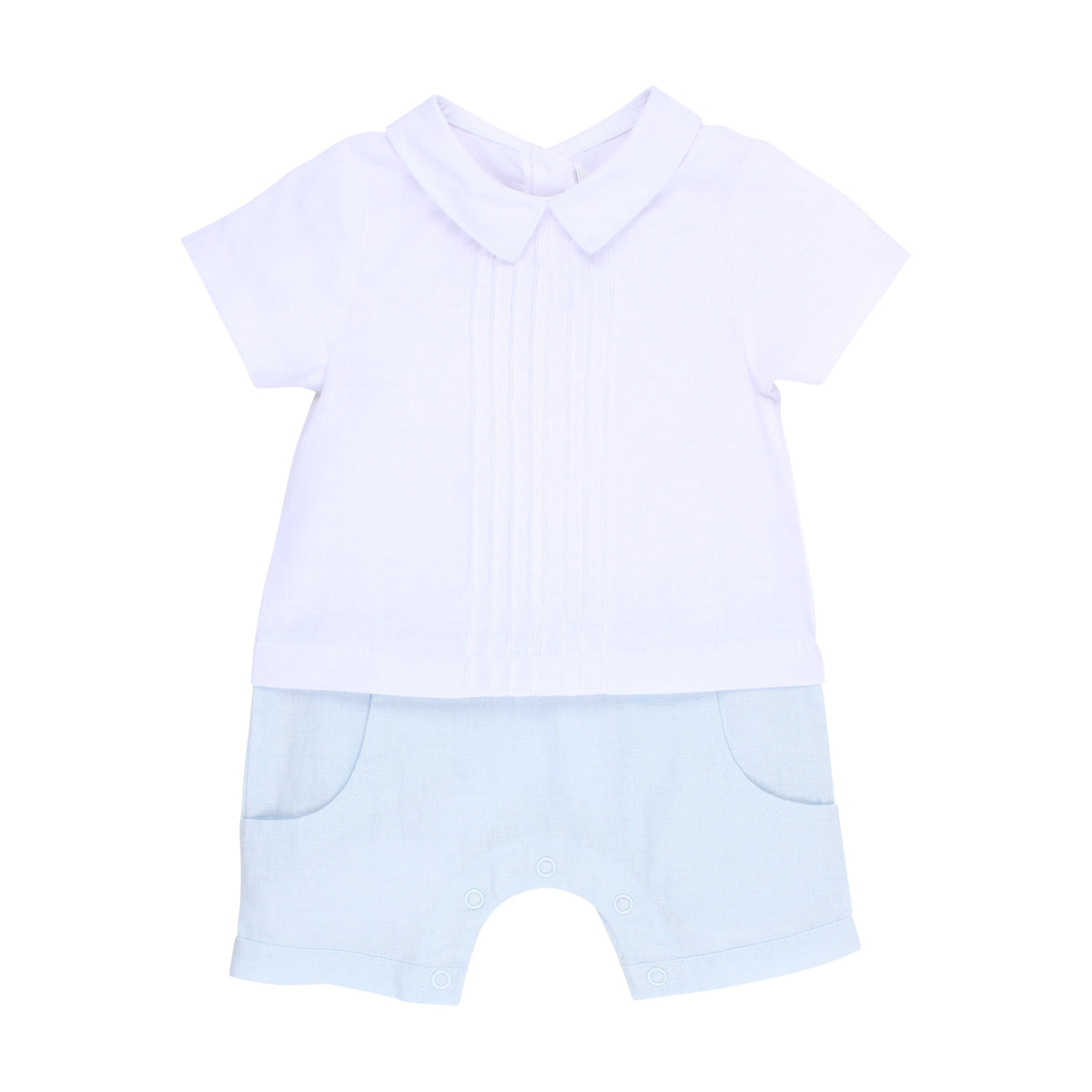 BEBE BOYS SHIRT ROMPER