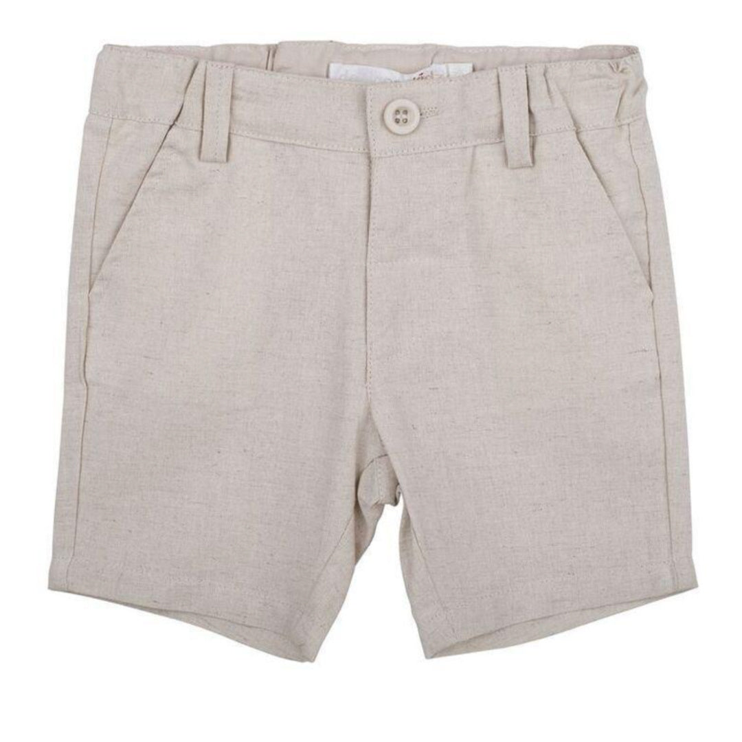 MAX & JACK TOBY LINEN SHORTS - SAND