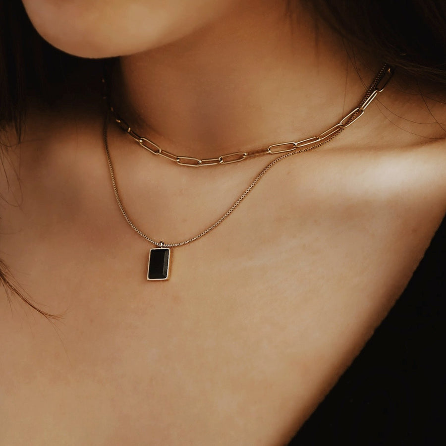 Agate Square Necklace