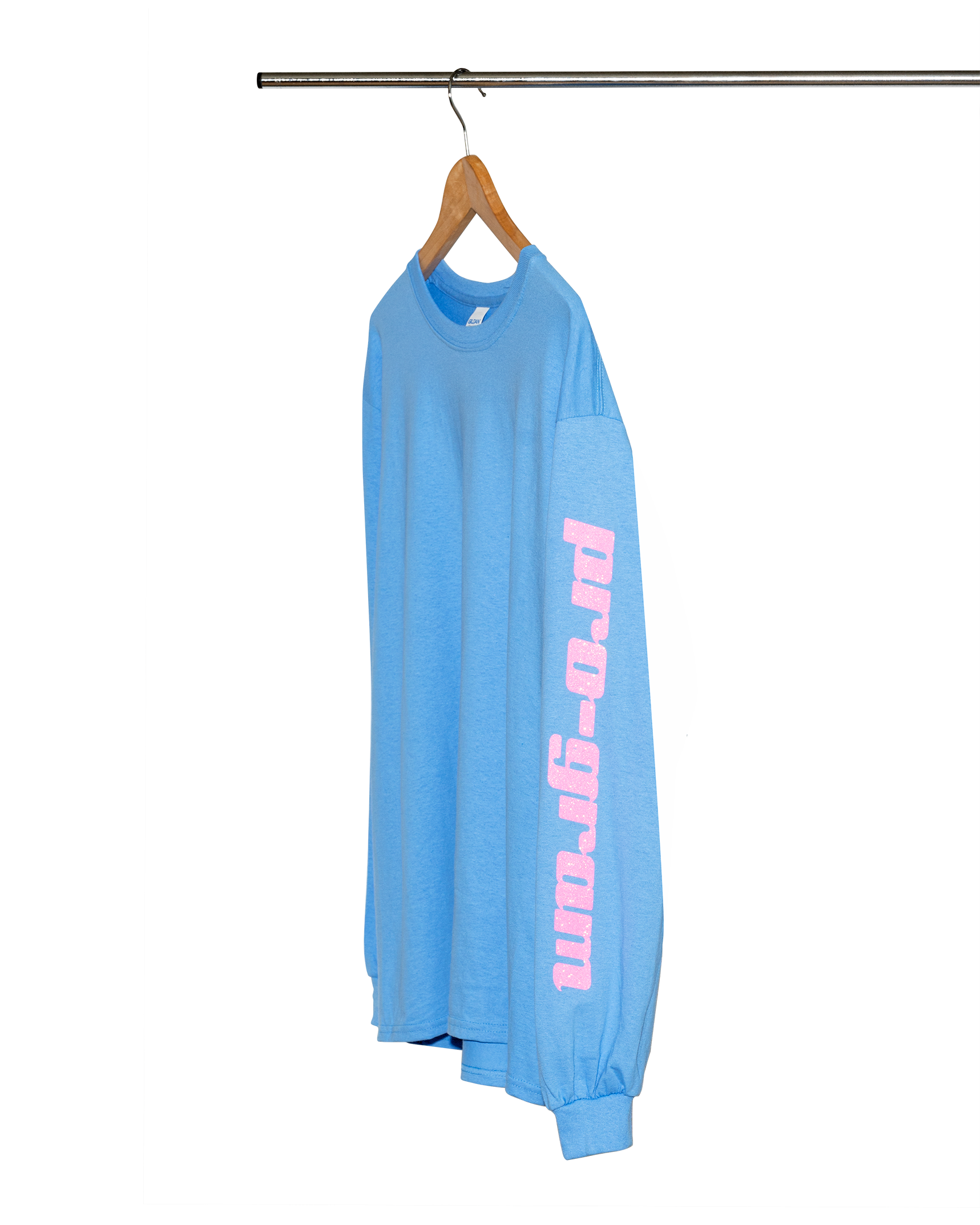Pro-gram Light Blue/Pink Glitter Logo Long-sleeve