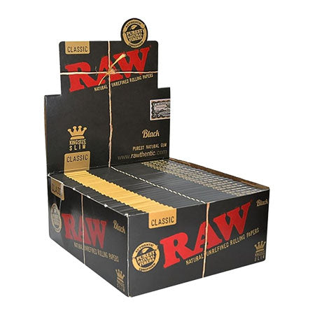 Raw Classic Black King Size Slim Rolling Papers