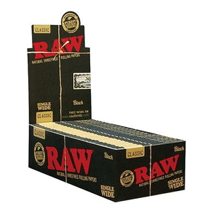 Raw Classic Black Single Wide Rolling Papers
