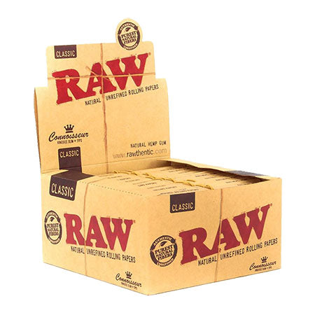RAW Classic Connoisseur King Size Slim Rolling Papers and Tips