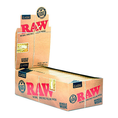 RAW Classic Single Wide Rolling Papers