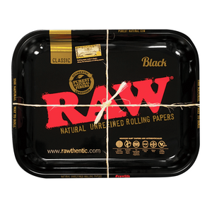 Large RAW Black & Gold Rolling Tray
