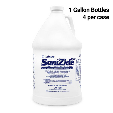 Sanizide Plus Disinfectant - 1 Gallon Bottle, 4 Bottles per Case