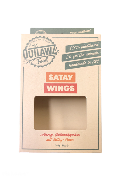 Satay Wings Outlawz Food