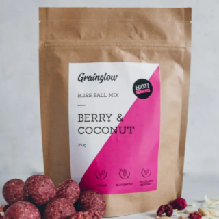 Grainglow Bliss Ball Mix Berry Coconut 250g