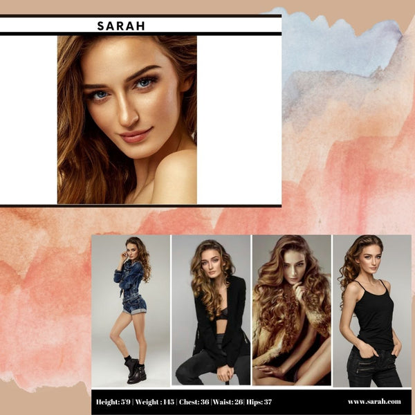 Horizontal Fashion Modeling Comp Card Templates