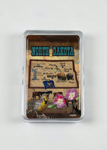 NORTH DAKOTA MAP PLAYING CARDS