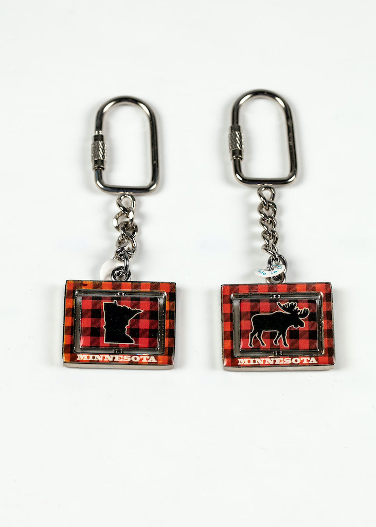 "MINNESOTA PLAID MOOSE / MAP KEY RNG 1.5""W X 3.3.75' L"