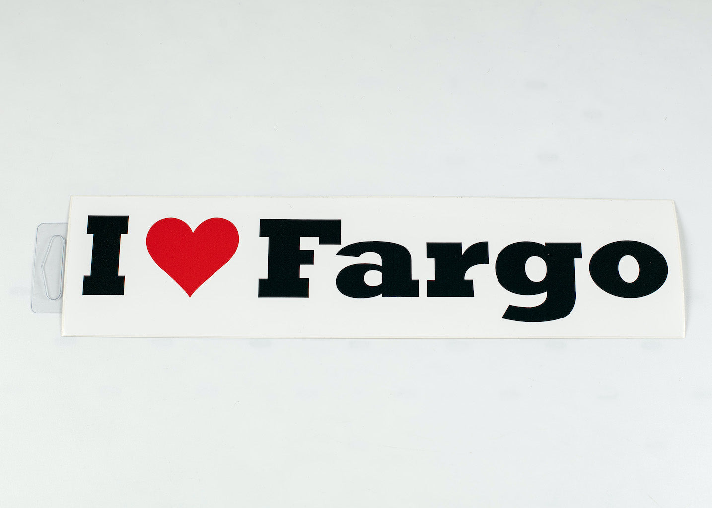 "I LOVE FARGO BUMPERSTICKER 2.75"" X 11.5"""
