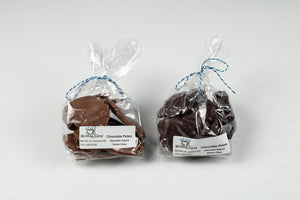 MORNING GLORY CHOCOLATE DIPPED POTATO CHIPS .33 LBS MADE IN KINDRED ND.