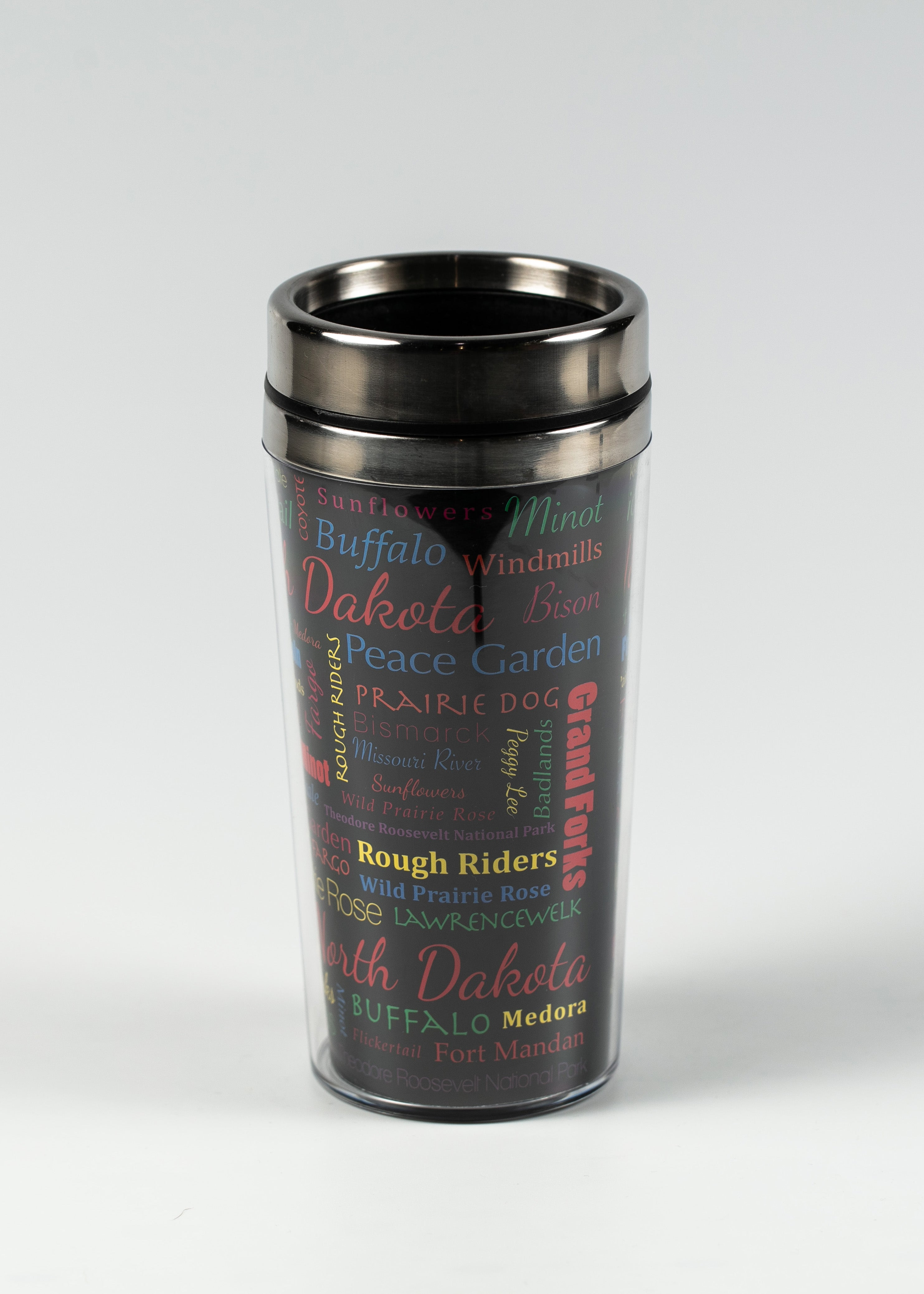 16 OZ NORTH DAKOTA WRAP CAR MUG WITH STAINLESS STEEL INSIDE