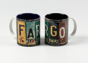 11 OZ WRAP DESIGN FARGO LICENSE PLATE MUG GRAY