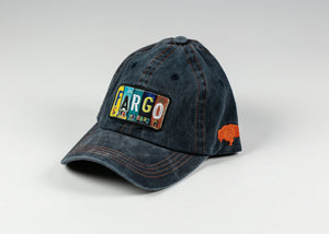 FARGO LICENSE PLATE PATCH CAP WITH ADJUSTABLE STRAP DENIM