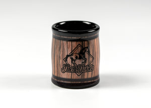 NORTH DAKOTA HORSE BARREL SHOTGLASS$