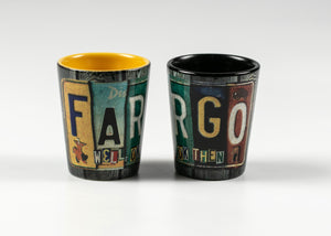 FARGO LICENSE PLATE WRAP SHOTGLASS