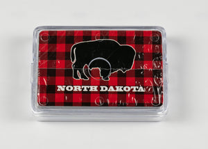 NORTH DAKOTA PLAID BUFFALO PLAYING CARDS
