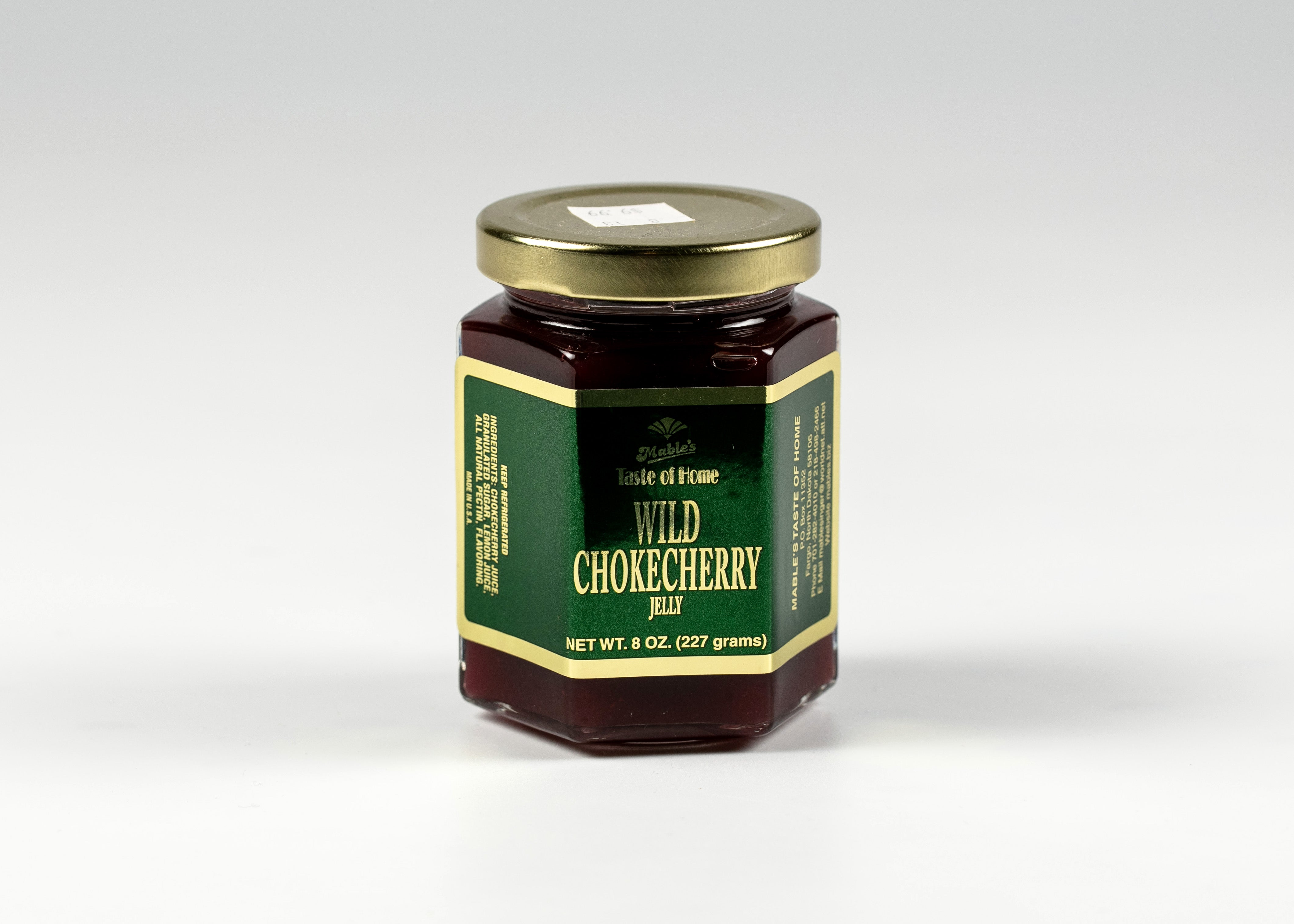 MABEL'S WILD CHOKECHERRY JELLY 8 OZ MADE IN FARGO ND
