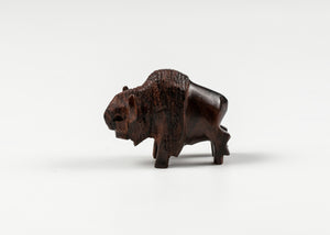 "HANDCARVED IRONWOOD BUFFALO MINI 2"" SIZE"