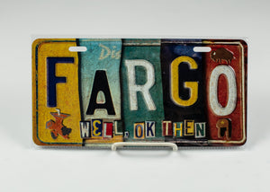 "FARGO METAL LICENSE PLATE 6"" X 12"""