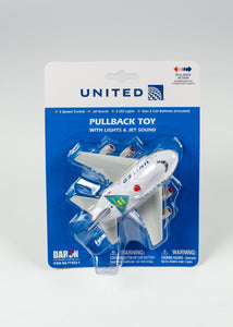 UNITED PULLBACK PLANE FOR AGES 3 AND UP BATTERIES INCLUDED