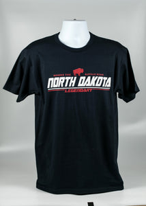 NORTH DAKOTA WHERE THE BUFFALO ROAM ADULT TEE 100% COTTON