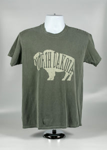 NORTH DAKOTA ADULT LETTER BUFFALO TEE 100 % COTTON