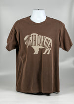 Load image into Gallery viewer, NORTH DAKOTA ADULT LETTER BUFFALO TEE 100 % COTTON