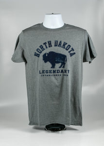 NORTH DAKOTA ESTABLISHED 1889 ADULT TEE 50/50 COTTON POLY
