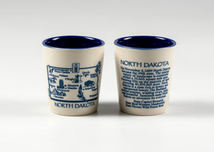 NORTH DAKOTA WRAP HISTORY SHOTGLASS