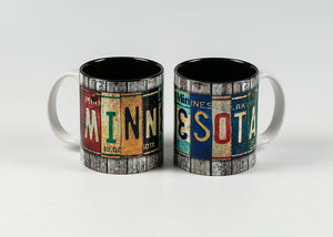 11 OZ WRAP DESIGN MINNESOTA LICENSE PLATE MUG GRAY