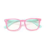 Square Flexible, TR90 Frame Computer Glasses for Boys and Girls
