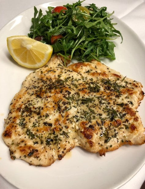 Chicken Paillard, Rosemary