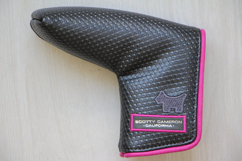 Gray and Pink Piping Putter Cover