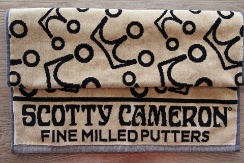 Scotty Cameron Gold and Black 3 Point Crown Towel