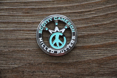 Scotty Cameron Tiffany Peace Sign Ball Marker