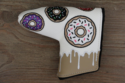 Tyson Lamb White and Tan Donut Headcover