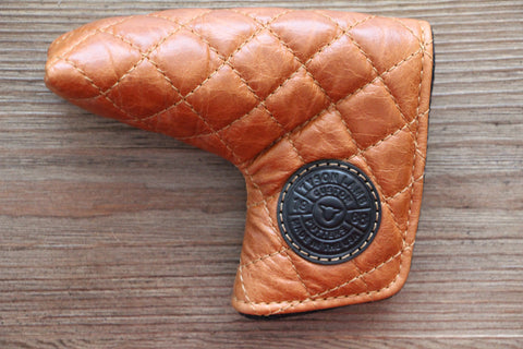 Tyson Lamb Tan Quilted Leather Headcover